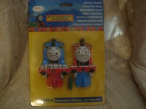 Thomas the Tank Engine Wall (Coat) Hooks - New in Package - RARE