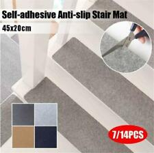 7/14pcs Stair Tread Carpet Mat Step Non-Slip Staircase Mat Protection Cover Pad