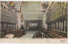 St. Georges Chapel Choir Windsor Castle F.G.O. Stuart 837 Postcard #2 B805