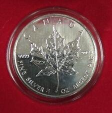 2002 Canadian Elizabeth II 5 Dollars 1 Ounce Silver Maple Leaf