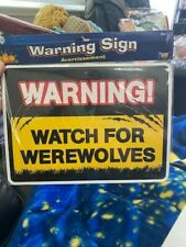 Watch for Werewolves - Watch For Vampires Halloween Sign Decor New!!!
