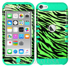 For Apple iPod Touch iTouch 5 | 6 - KoolKase Hybrid Cover Case - Zebra Green