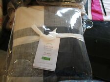 Pottery Barn Bryce Buffalo Full queen duvet cover charcoal  New