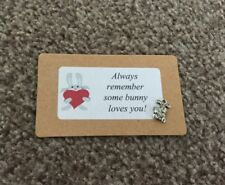 SOME BUNNY LOVES YOU KEEPSAKE CHARM CARD filler Gift VALENTINES DAY LOVE LOVER