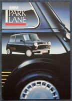 MINI PARK LANE SPECIAL EDITION Car Sales Brochure 1987 #3880