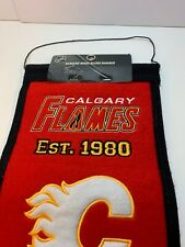 "Calgary Flames Winning Streak Past Mascots Wool Heritage Banner (8""x32"")"