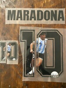 Maradona 10 - Special edition name set for shirts and jerseys