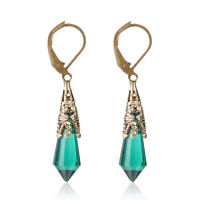 Chic Boho Women Earrings Jewelry Dangle Green Engagement Wedding Party Jewelry
