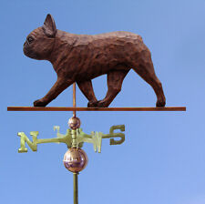 French Bulldog Hand Carved Hand Painted Basswood Dog Weathervane Red Brindle