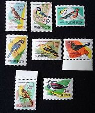 1961 Complete Set of M. U. H. Bird Stamps from Hungary