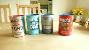 Dad's Money Boxes Saving Tins Tirelire Piggy Banks Fathers Day Gift