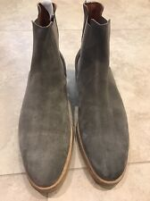 COMMON PROJECTS Suede Chelsea Boots, Gray, 46 EU 13 US, $530
