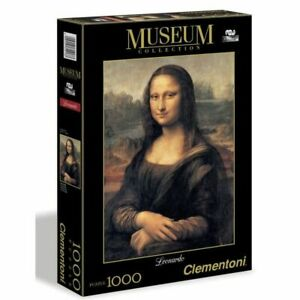 PUZZLE Collection Museum 1000 pieces - La Joconde de Leonard de Vinci Clementoni