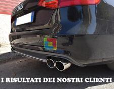 SPOILER SOTTO PARAURTI AUDI A4 B8 8K 2007-2012 DIFFUSORE POSTERIORE S4