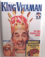 "King Vitaman Vintage Cereal Box 2"" x 3"" Refrigerator or Locker MAGNET Vitamin #2"