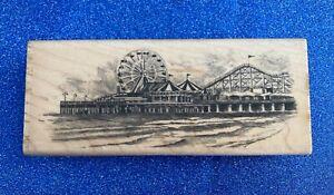 NEW Inkadinkado 'Seaside Pier' Rubber Stamp