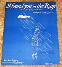 VINTAGE I FOUND YOU IN THE RAIN BY HAROLD BARLOW SHEET MUSIC