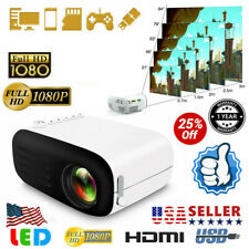 7000 Lumens Mini Projector HD 1080P Home Theater Cinema Video USB VGA SD AV@