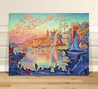 """Paul Signac The Port of Saint Tropez ~ FINE ART CANVAS PRINT 32x24"""""""