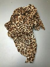 Foulard brun léopard neuf (A)