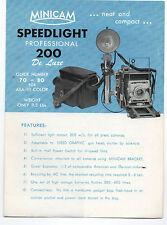 1950s Japanese Camera Brochure Minicam Speedlight 200