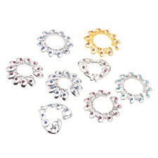 Heart Crystal Clip On Body Jewelry 8 Pcs Non Piercing Nipples Ring Round