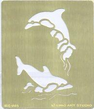 Pochoir à estamper Laiton 7x8 cm Dauphin BS-085 Brass Stencil Dolphin