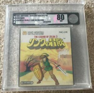 The Legend of Zelda 2 for Famicom Disk System Graded 80 Silver