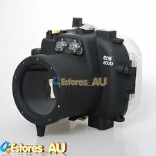 40M 130ft Waterproof Underwater Housing Case For Canon EOS 600D Rebel T3i Camera