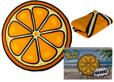 Nouveauté grand orange fruit en forme de plage bain natation doux Serviette de nouveau dans boîte cadeau