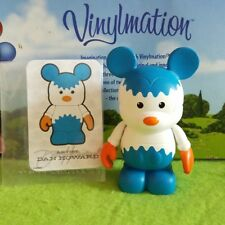 "Disney Vinylmation 3"" Park Set 2 Urban Gears White Blue Orange with Card"