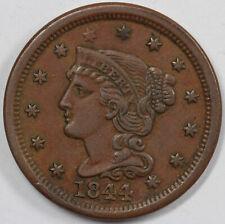 1844 1c N-5 Braided Hair Large Cent