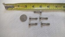 """5 pcs Stainless 10-32 Captive Panel Screws 1"""" long, 1/4"""" thread length, slotted"""