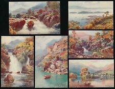SCOTLAND TUCKS OILETTE WIMBUSH SET of 6 PAINT EFFECT LOCH LOMOND 7538 SERIES 2