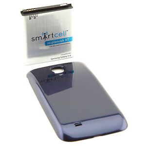 5200mAh extended battery for Galaxy S 4 IV i9500 NFC + Blue cover SmartCell