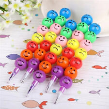 Study Stationary Kids Painting Pen Removable Cute Ball Face Expression 11.5cm