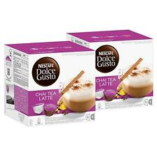 Nescafe Dolce Gusto Chai Tea Latte,  2 x 16 Capsules (16 Servings)