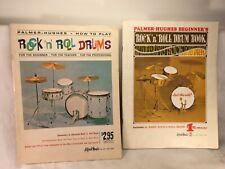 Vintage Set Of 2 Drum Instruction Books Palmer/Hughes Rock 'N' Roll 1960's