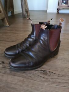 RM Williams mens 9H leather chestnut Craftsman Boots
