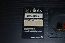 Infinity Alpha center speaker crossover only 8ohm