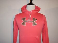 Under Armour Storm Tackle Twill Ladies Hoodie Power of Pink Camo UA Small NWOT