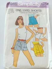 Simplicity Vintage Sewing Pattern -Women's Shorts-Size 6/8 -1970's - VPS078-6946