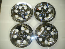 "RHOX GOLF CART HUB CAPS WHEEL COVER 8"" CHROME A/T BEEDLOCK SET OF 4 CAP-0046"