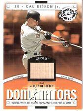 2001 Donruss Class of 2001 Diamond Dominators GU Bat Cal Ripken Jr. #DM18 Oriole