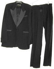 PIERRE CARDIN BLACK TUXEDO SUIT MENS Size 40 Vintage 1970's