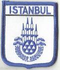 Istanbul Turquie écusson drapeau monde brodé patch badge