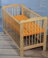 Lit Bébé à Barreaux Complet Lot 120 X 60 cm Matelas Bois Massif Extra Brett Neuf