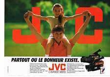 PUBLICITE ADVERTISING  1990   JVC   caméscope