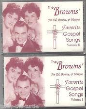 The Browns' Favorite Gospel Songs Vol 1 & 2 Jim Ed, Bonnie & Maxine Cassettes