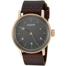 Nixon Men's Stark A11942001-00 42mm Gray Dial Leather Watch
